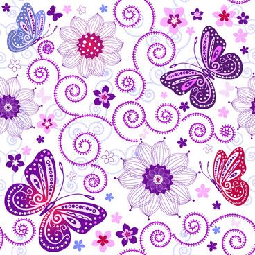 artistic butterfly pattern