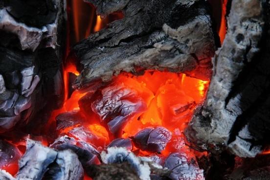 ash burn campfire
