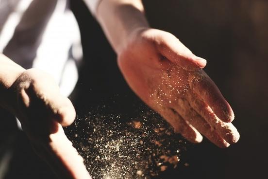 ash child dirt female flower food girl hand heart