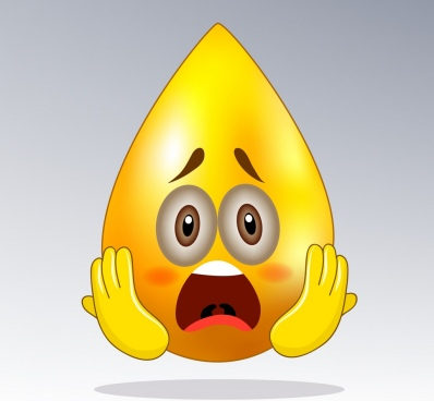 ashamed emotional icon yellow droplet shape