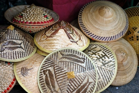 asian straw hats