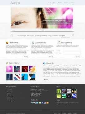 Aspects Free PSD Template