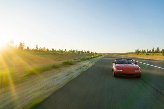 asphalt auto automobile blur car curve drive empty