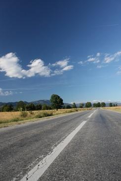 asphalt blue clouds