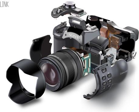 assembled camera vector