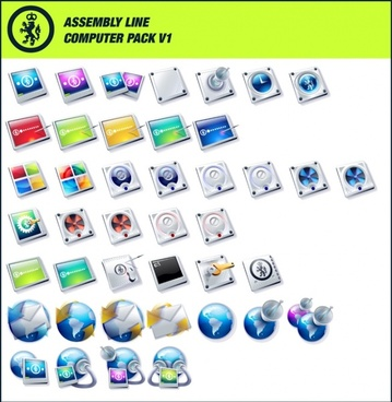 Assembly Line Computer Pack V1 icons pack
