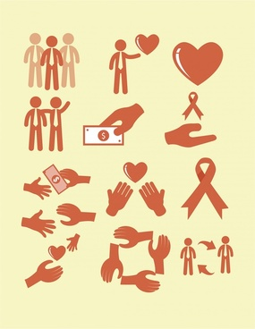 assist icons sets vector illustration with various shapes