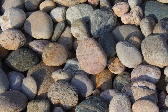 assorted loose round stones