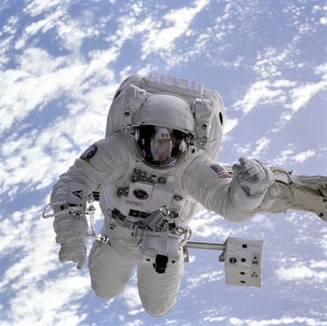 astronaut space shuttle space walk