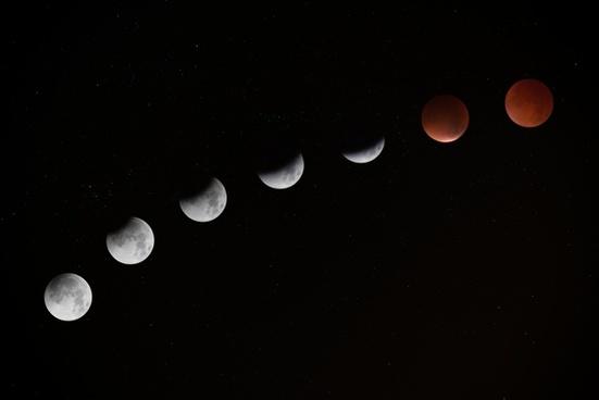 astronomy background crater crescent dark eclipse