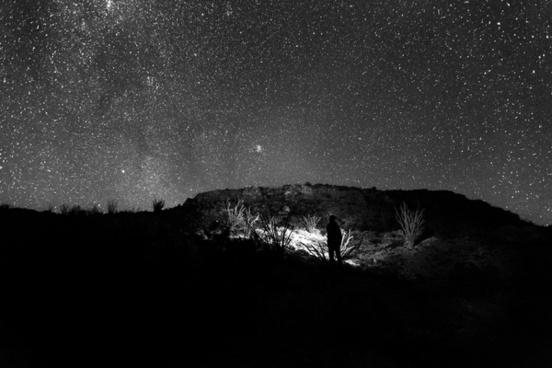 astronomy black and white dark fine art landscape