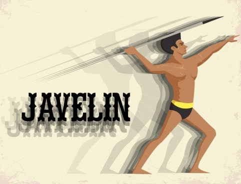 athlete advertisement male javelin athletic icon