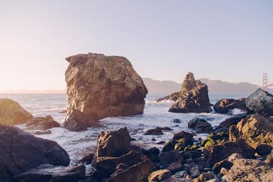 atlantic beach cliffs coast coastline high landscape