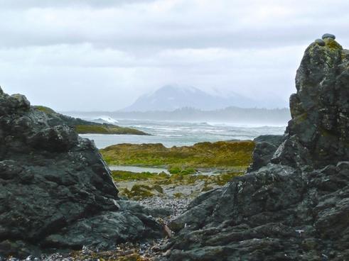 atlantic beach cliffs coast island landscape nature