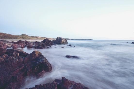 atlantic beach coast coastline landscape nature
