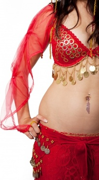 attractive belly costume