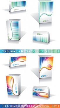 attractive business case collection vector