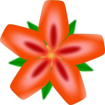 Atulasthana Red Flower clip art
