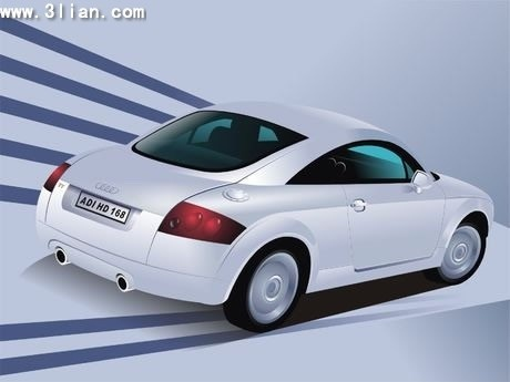 car advertising banner modern 3d design
