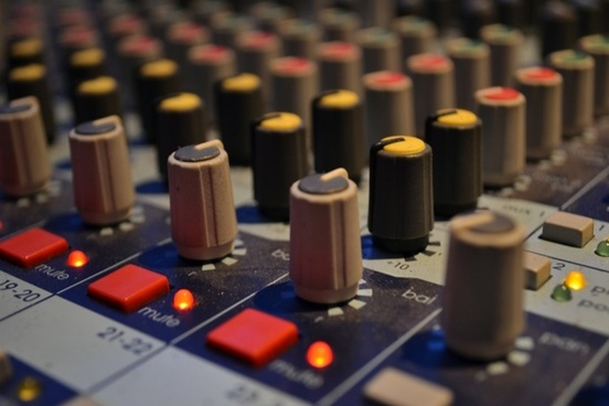 audio mixing board music stuido