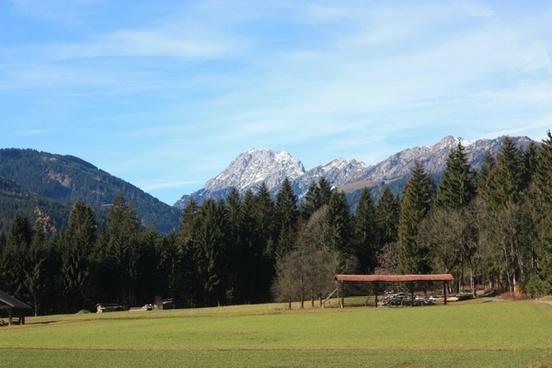 austria landscape mountains
