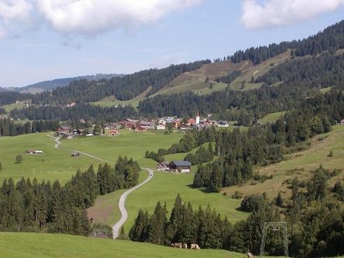 austria landscape sky
