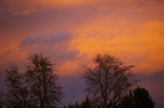 austria morning sky