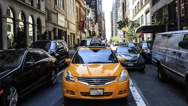 auto automobile automotive cab car city drive motor