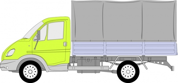 truck icon colored flat sketch