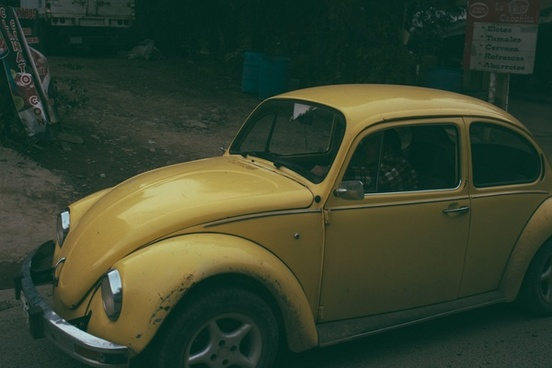 automobile bug car coupe desert dodge luxury night