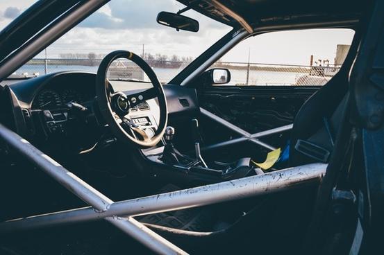 automobile classic cockpit dashboard daytime