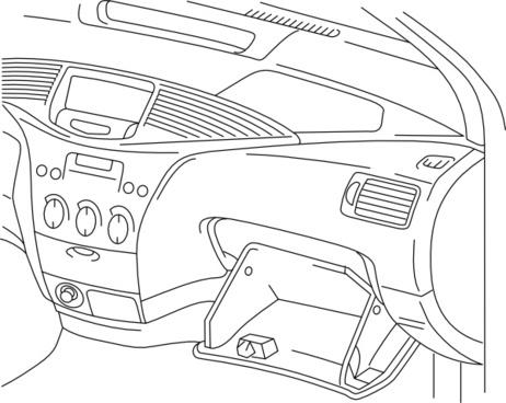 Automobile Dashboard clip art