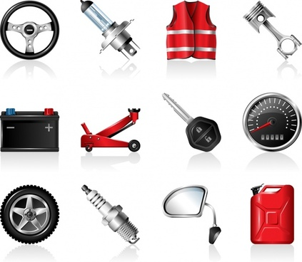 automotive peripheral products icon vector