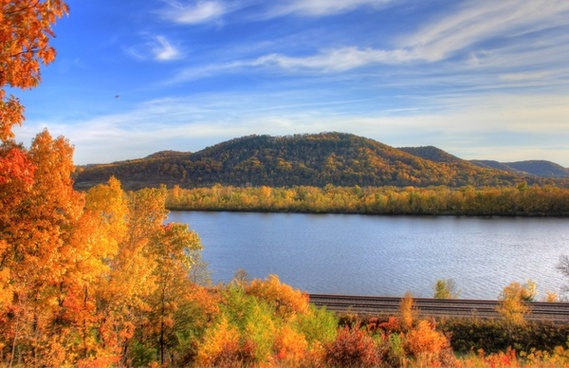 autumn across the mississippi at perrot state park wisconsin