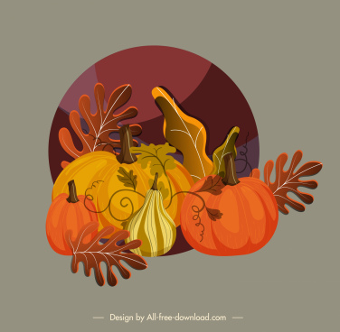 autumn background pumpkin leaves decor colorful classic