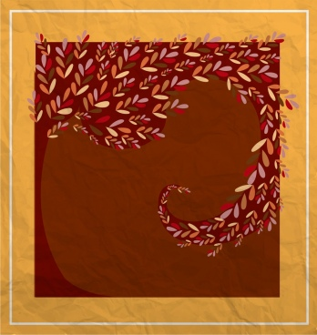 autumn background swirled movement leaves decoration