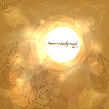 autumn background with aperture vector