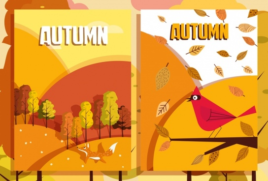 autumn backgrounds yellow design tree leaf animals icons