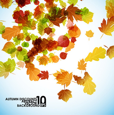 autumn beautiful background vector set