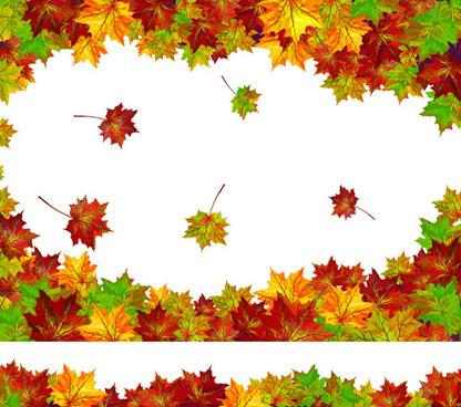 autumn beautiful background vector set