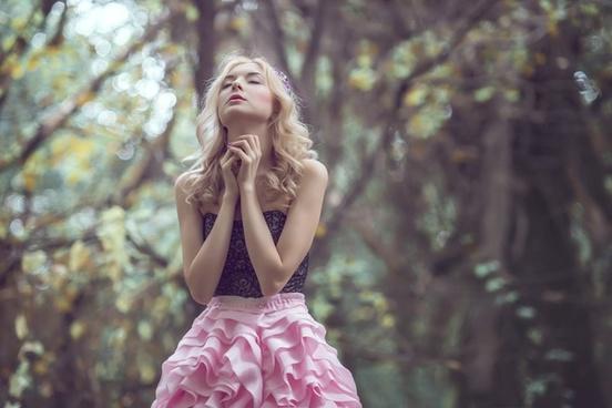 autumn beautiful cute dress fashion forest girl