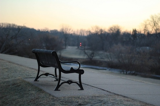 autumn bench cold fall fog frost frozen ice lake