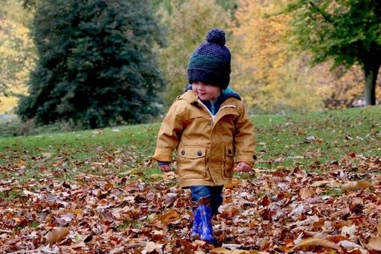 autumn boy child childhood fall family fun girl