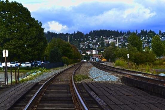 autumn bridge curve fall infrastructure landscape
