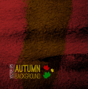 autumn color grunge background vector