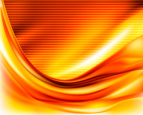autumn color wave background vector