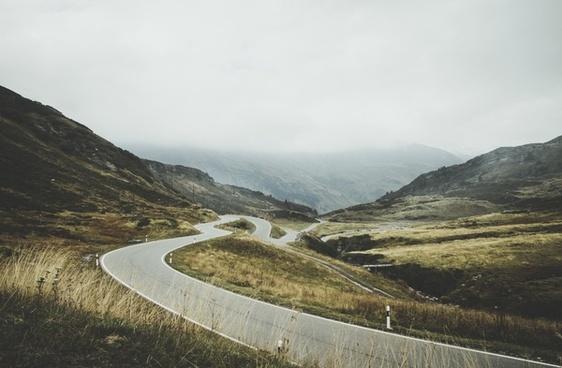 autumn daytime fall highway hill horizon idyllic