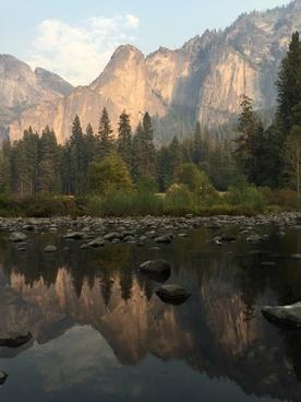 autumn daytime forest lake landscape mountain nobody