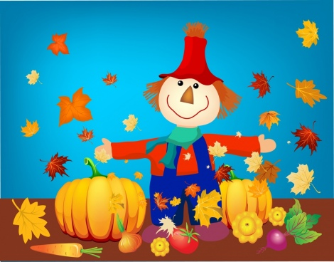 autumn design elements colorful fruits dummy icons