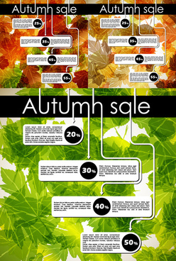 autumn discount design vector